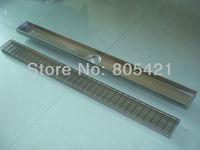 free shipping 304 stainless steel linear grate floor drain ,bathroom accessories linear floor drain