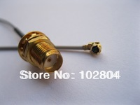 100 pcs RP-SMA Female Jack Connector to IPX U.FL 1.13 Antenna WiFi Cable 120mm