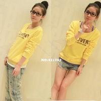2013 New Fashion Hot Korean Women's Youth Sportive Casual Long Sleeve Pullover Sweatshirts 10011 Z