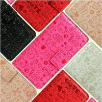 Fashion Cute Magic Girl FLIP PU Leather case cover For Nokia Asha 311 Multicolor 1pc/lot Free shipping