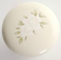 10Pcs/Lot American ceramic handle cartoon wardrobe door drawer handle with two little flower