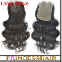 6A Grade Unprocessed Virgin Top Lace Closure Loose Wave Peruvian Hair