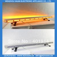 Free shipping 1w led light 1200MM amber color aluminum material low profile lightbar TBD-GA-506