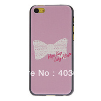 Ordinary Designed Bow Pattern Hard Case Cover for iPhone 5C