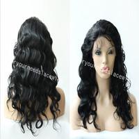 Free Shipping!STOCK Brazilian Virgin Lace Front Wigs,Virgin Body Wave Brazilian Human Hair Color#1 Cheap Lace Wigs