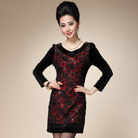 2013 women's clothes one-piece dress dinner party clothes british style dress