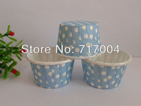 Min Order $18 (mixed order) 10pcs/lot mini light blue dotted paper cake cup ,cupcake tray
