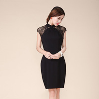 Summer women's 2013 ol one-piece dress black sleeveless dress fashion elegant vintage one-piece dress