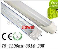 Pure White SMD3014 LED Tube T8 1200mm 18W 1.2m Light Lamp 1700-1800lm Aluminum+PC Cover 85-265V 110V 120V 130V 220V 230V 240V