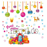 New Hot new year gift christmas decoration christmas decorations  christmas wall stickers