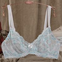 Women's full lace sexy underwear ultra-thin comfortable breathable translucent temptation bra