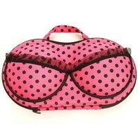 1PC Portable travel underwear storage zipper type bow lace bra bag luminous underwear Hot Pink storage box EJ670427