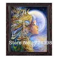 Free Shipping Unfinished Cross Stitch Kits Goddess of the Hunt Diana Modern Decorative Painting Cross Stitch