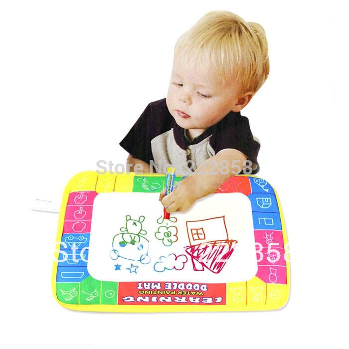 Feitong Free shipping & wholesale & Cheap 29X19cm Water Drawing Painting Writing Mat Board & Magic Pen Doodle Toy Gift(China (Mainland))