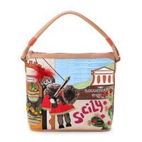 Braccialini 's same designer Italy handbags women's handbag vintage technology package casual one shoulder bag Sicily bags