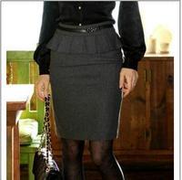 2013 Professional 60% Woolen Bust Skirt Autumn and Winter Short Skirt Slim Hip Skirt Outfit OL Step Elegant Skirt