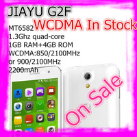 "Pre-sale Slim JIAYU G2F MTK6582 Quad Core 3G Smart Phone 8MP Camera 4.3"" IPS Gorilla Glass Screen 1G RAM 4G ROM Wlofson Music"