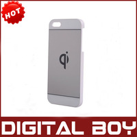 Qi Standard Wireless Charging Back Sticker for Iphone 5 Charger Receiver Coil For iPhone 5 Free Shipping