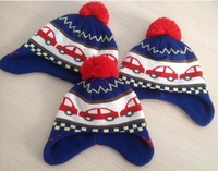 EuropeStyle   children     knitted  caps  kids winter   Bomber Hats