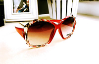 Fashion Personalized Sunglasses Female Red Glasses Brands Original Womens With Nice Design