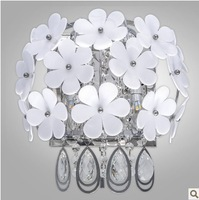 high quality luxurious crystal wall lightings with switch  bedroom lightings E14 ports christmas  lightings simple petal