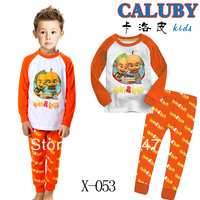 Free Shipping,Baby long sleeve Pyjamas Boys Girls Kids Sleepwear set Children's Pyjamas kids sleepwear Baby wear 6set/lot X-053