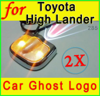 2 x Fit For Toyota High Lander  LED car Door step lamp welcome Laser Logo Projector courtesy for car gps Navigatiaon