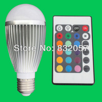 Free Shipping 9W E14 MR16 GU10 E27 RGB LED Bulb Remote 16 Colors Change Spotlight Warranty 3 Years High Lumen RGB E14 LED Bulb