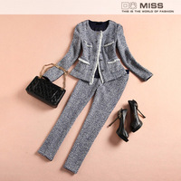 NEW fashion women's 2013 elegant ol herringbone outerwear trousers casual set ropa de mujer