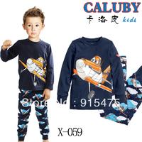Free Shipping,Baby long sleeve Pyjamas Boys Girls Kids Sleepwear set Children's Pyjamas kids sleepwear Baby wear 6set/lot X-059
