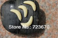 Promotion!! Free shipping!! 100PCS 2cm 0.35g maggot Grub Soft Lure Baits Worms Glow Shrimps Fishing Lures