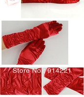2014 Wedding Glove Short Style Satin Edge Tulle Net New Bridal Gloves PECD0065