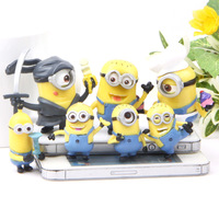 Free shipping 7pcs/lot Despicable me 2 minion Anime model minion despicable me 3D Great gift