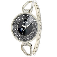 Fashion Brand Women Luxury Rhinestone Bracelet Watches, Korea Original Julius Vintage Ladies Dress Full Steel Crystals For Hours