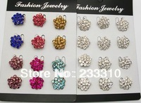 12Pcs wholesale lot brooches silver or gold colors brooch pins mixed colors