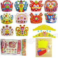 10PCS/LOT.Handmade animal crown craft kits,Kids hat,Birthday party favor,Kids party ornament,Kindergarten gift.10 design.