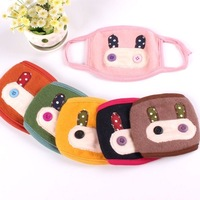 Rabbit ear cartoon masks autumn and winter cotton 100% antibiotic masks fashion thermal masks