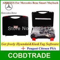 DHL Free!AVDI/FVDI ABRITES Commander For Mercedes- Benz/Smart/Maybach V6.4 with Peugeot Citroen PSA +Hyundai/KIA/Tag software
