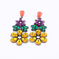 (mix order) Free Shipping & Fashion accessories luxury vintage jungle flower earrings  TN-12.99