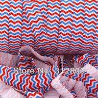 Blue/ White/ Red Fold Over Elastic - Printed FOE - 5/8 inch FOE - 50 Yards/Roll- Shiny for elastic Headbands