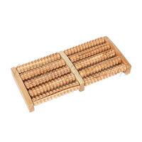 10-Wheel Rows Wooden Foot Roller Stress Relief Massager Reflexology Relax New