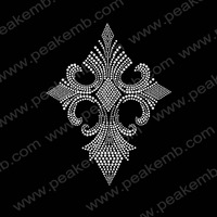 Wholesale 30Pcs/Lot Free Shipping Cross Iron On Rhinestones Hotfix Transfer Custom Motif Design For Garment Accessories