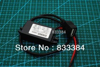 Водонепроницаемый USB интерфейс 12 В до 5 В DC преобразователи регулятор 15 Вт 3A