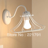 Loft rh fashion lamp vintage single head small protected wall lamp