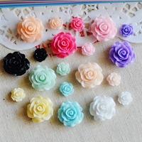 50 Resin Flower Flatback Cabochon Scrapbook Fit Embellishments Mixed Color/Size