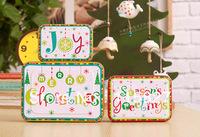 2013 New!Merry Christmas 3pc/set Season greeting Iron storage case Metal  box Tin Case Christmas gift box House Decoration