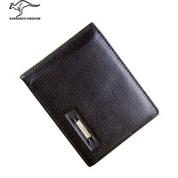Kangaroo wallet cowhide male wallet purse genuine leather wallet