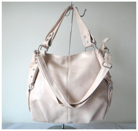 A99(ivory)2014 Hot Sale popular women bags,40x27cm,advanced PU,5 different colors,shoulder straps,two function,Free shipping!