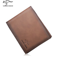 Kangaroo male genuine leather wallet first layer of cowhide money clip 2013 short design cowhide wallet