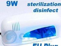 9W Gel Curing Nail UV Lamp Dryer White+Light Bulb EU Plug(220-240V)